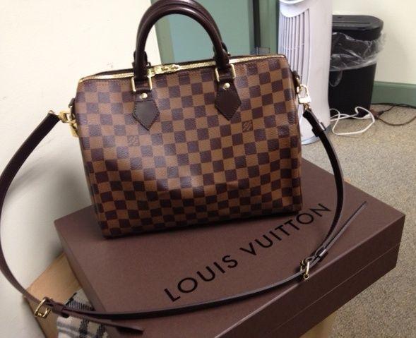 c9f1150c18529 Love this bag; it's so versatile! Speedy 30 Bandouliere in Damier Ebene