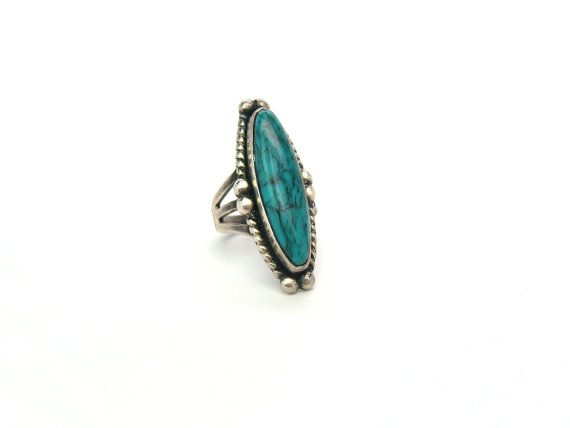 Navajo Turquoise Ring. Vintage Native American by bohemiantrading