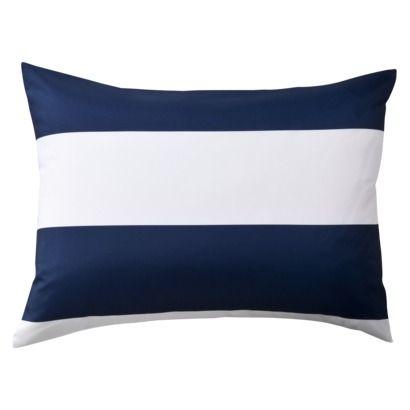 Room Essentials® Rugby Sham - Blue/White (Standard)