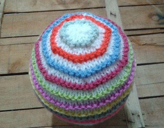 Colorful Baby HatBaby Girl GiftBaby Girl by knitaccessoriesfadik
