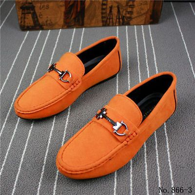 fashion new leather slip on mens driving moccasin loafer