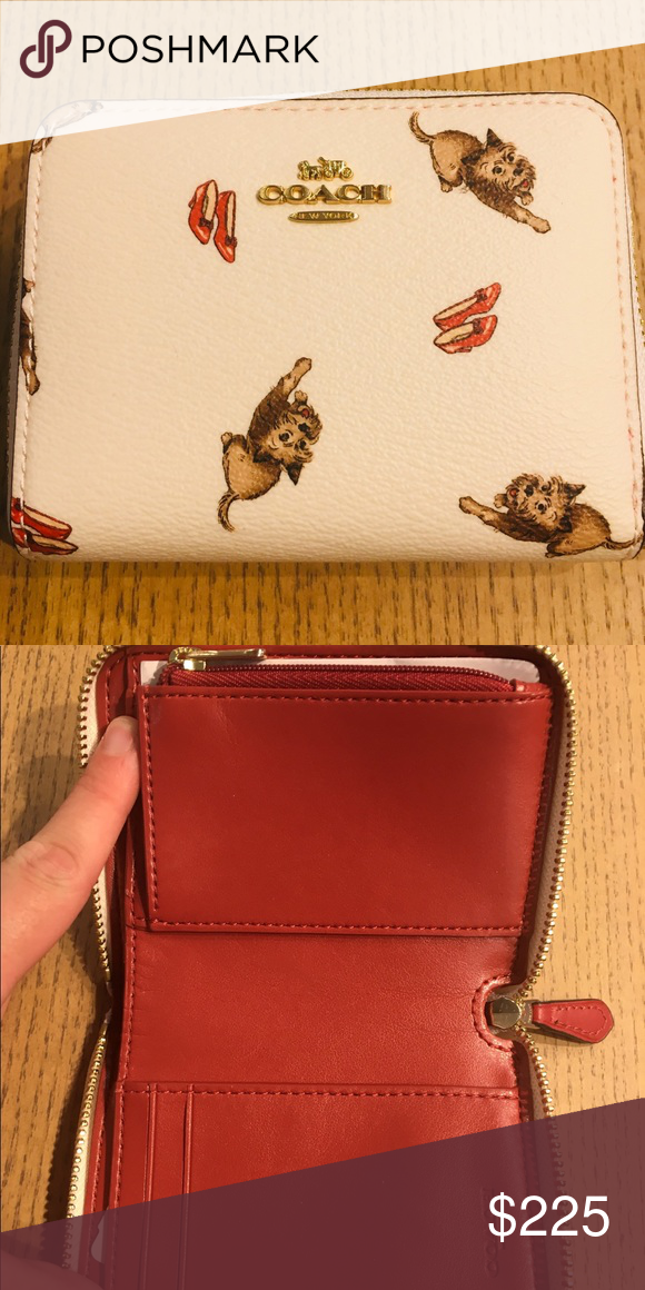 ba445cadb61a Coach Toto Wizard Of Oz Collection zip around Coach Small zip around wallet  from the Wizard of Oz Collection featuring Toto and Dorothy s ruby slippers  ...