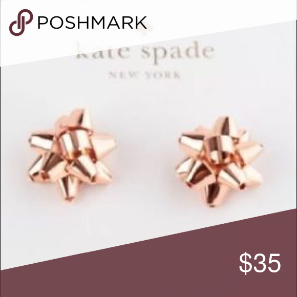 a03f4b07c725d Kate spade bourgeois bow earrings. NWT Rose gold plated new with ...