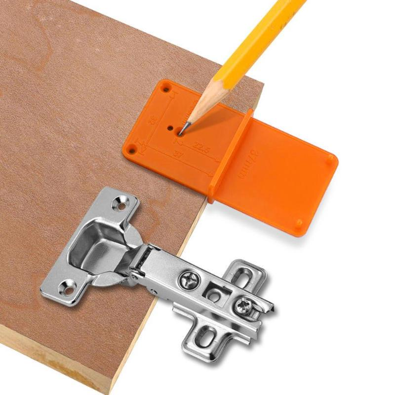 Hole Woodworking Tools Hinged Positioner Hole Saw Wood Jig Installation