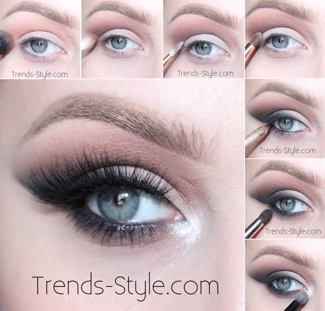 Smokey cat eye makeup tutorial, all matte and neutral shade. Using ...