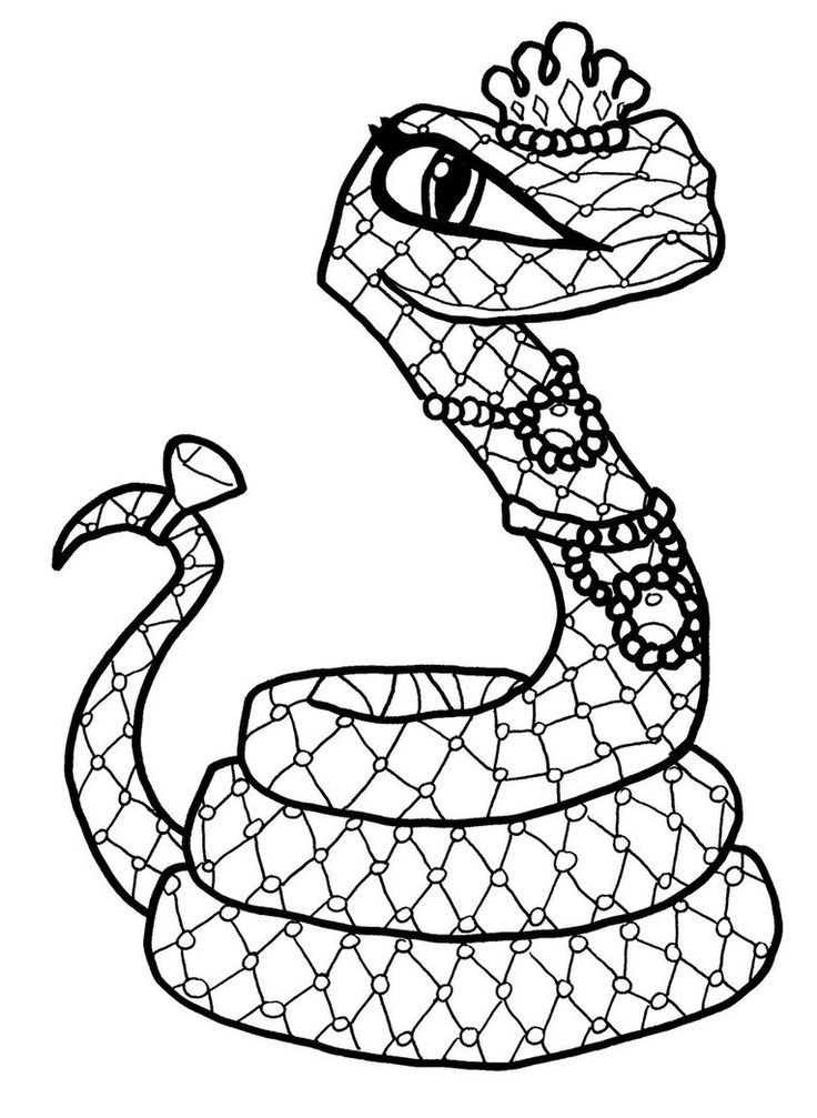 monster high hissette cleo de niles pet egyptian cobra snake coloring page - Coloring Pages Monster High