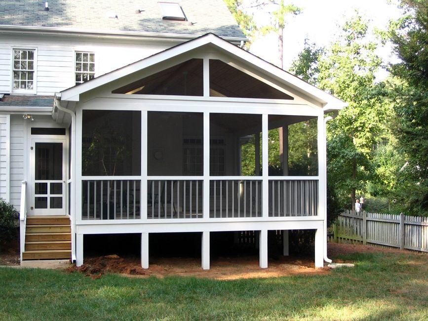 screened in porch ideas | Hardwood Door Screen Porch ...