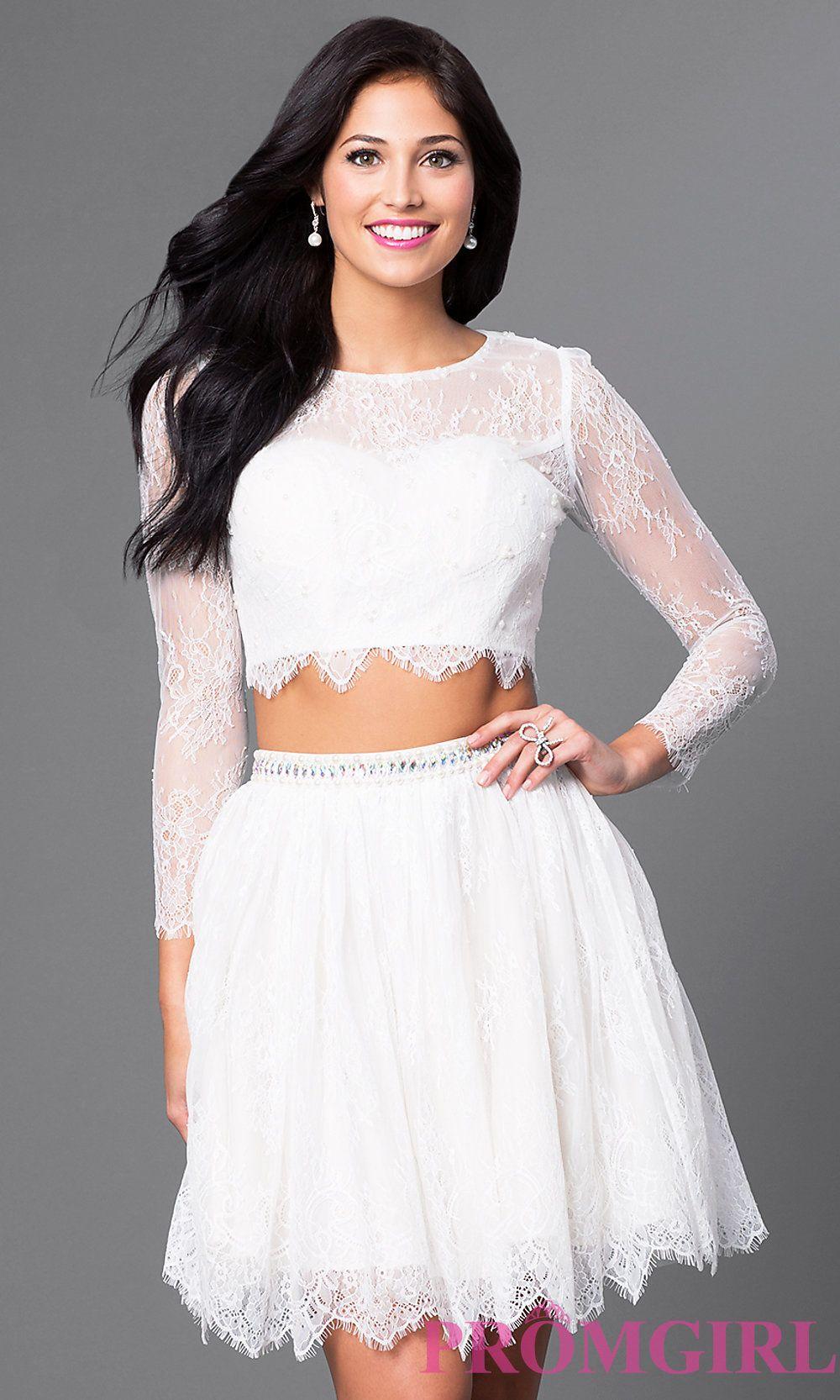 Two piece long sleeve short dress femeninas pinterest long