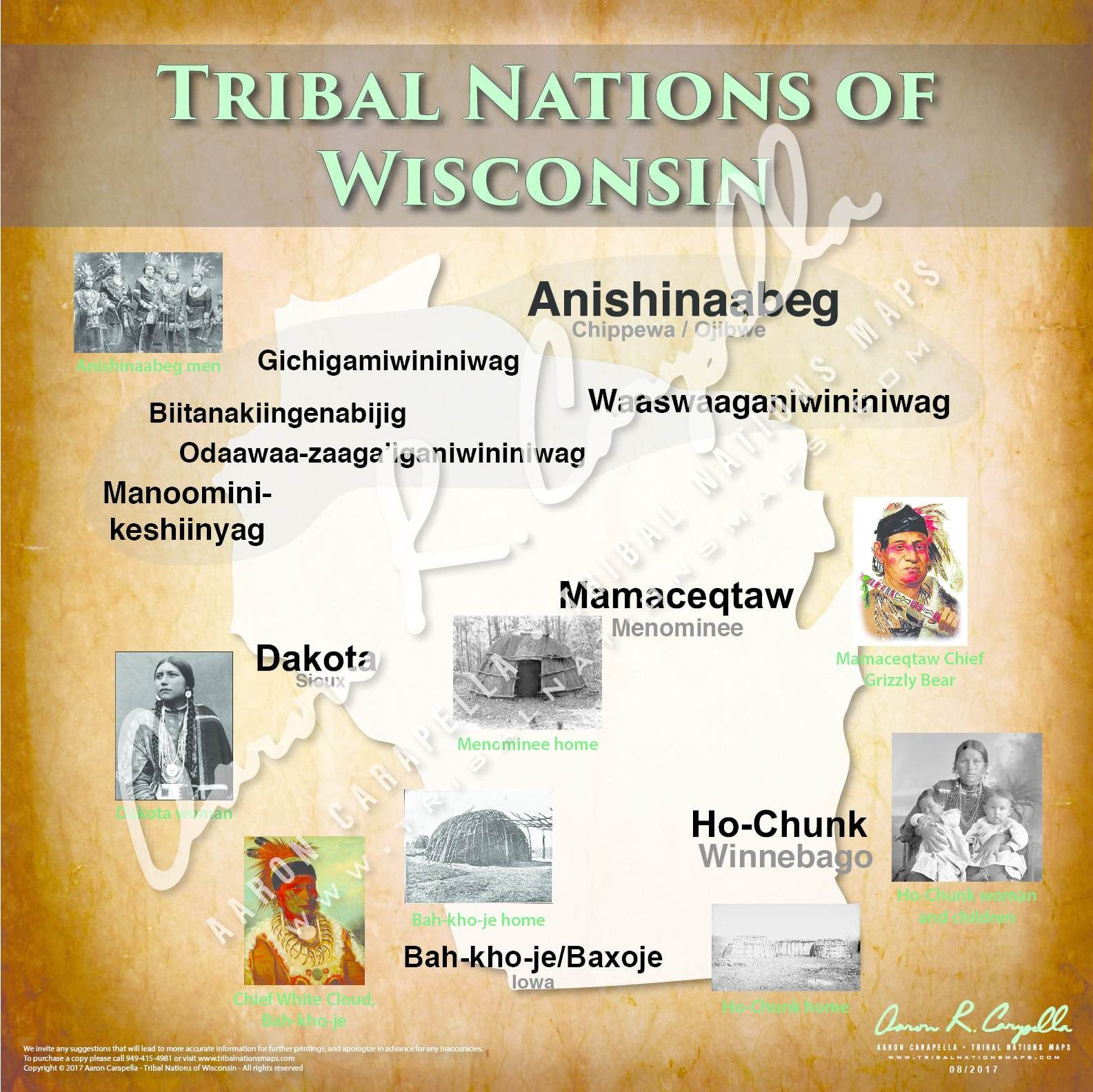 Tribal Nations Of Wisconsin Map In