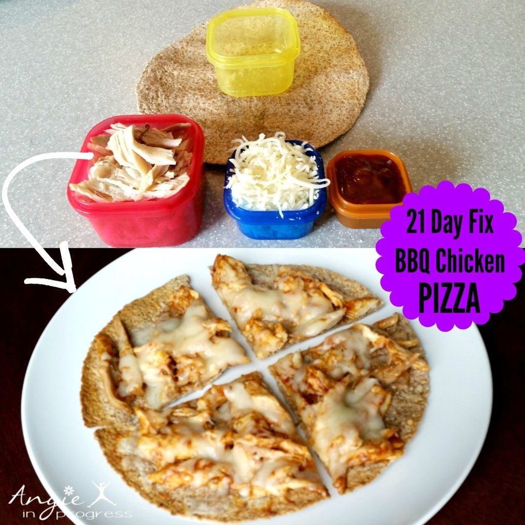 21 Day Fix Approved Bbq Chicken Pizza is part of 21 day fix recipies -