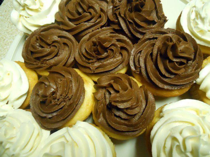 Cupcakes au chocolat et à la vanille