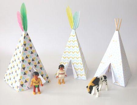 Cool Printable Make A Teepee For Playmobil Figures Diy Tipi