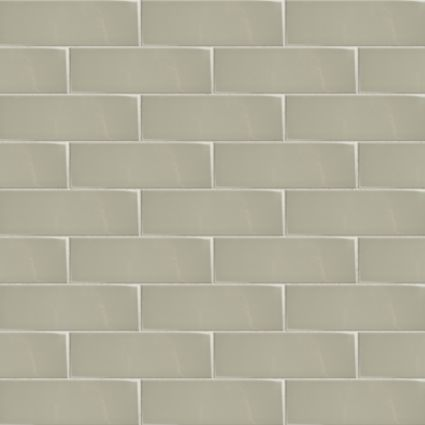 Wellington Sage Ceramic Wall Tile, Pack of 33, (L)300mm (W)100mm ...
