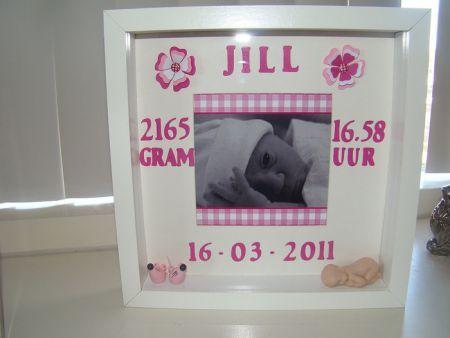 gedetailleerde foto's topmerken goedkope verkoop Geboorte 3D lijst. Nodig: Ikea 3D fotolijst, Geboorte ...