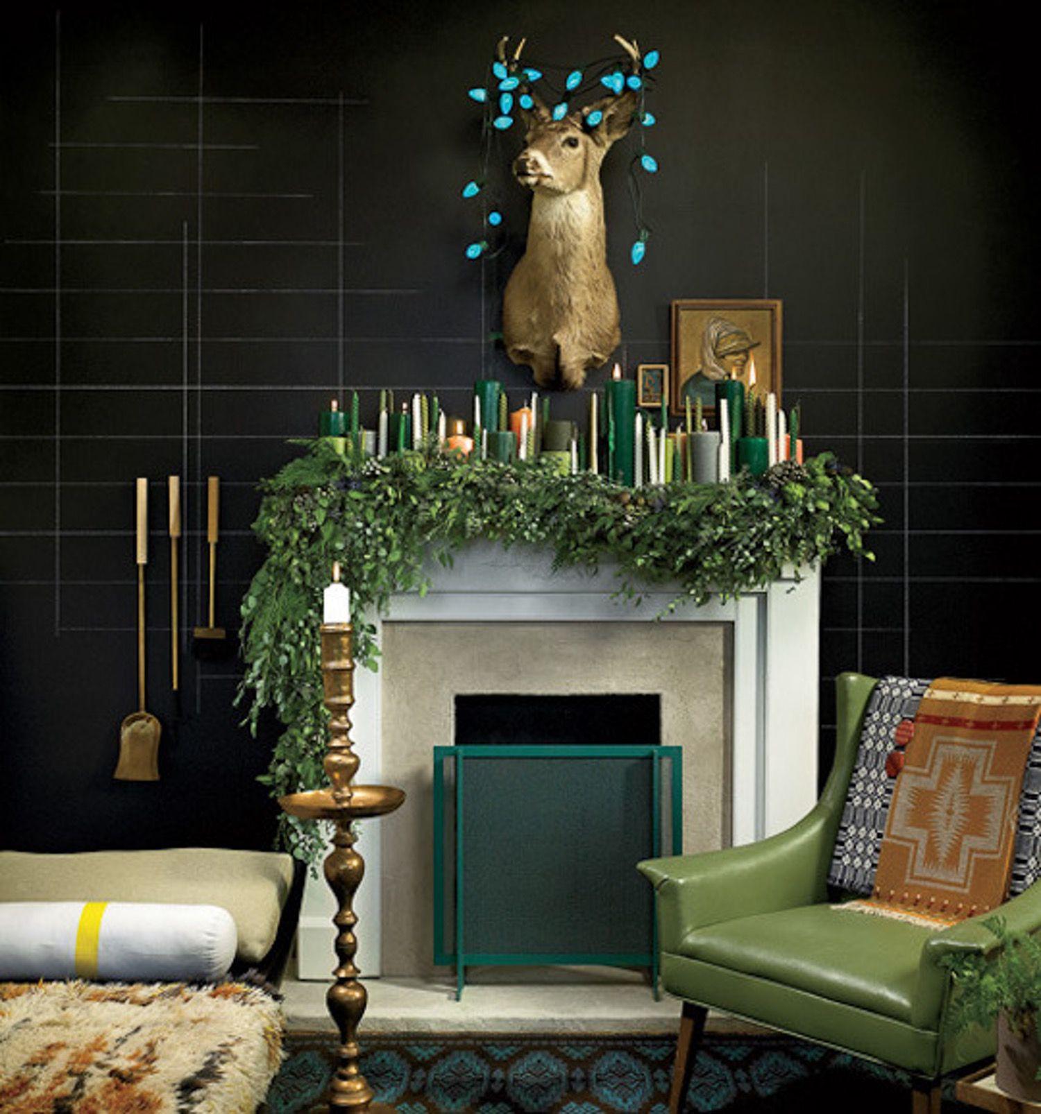 Stylish Holiday Mantels, 15 Ways   Holiday mantle ...