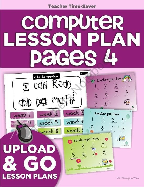 Computer Lab Lesson Plan Pages Bundle (4th Quarter) from