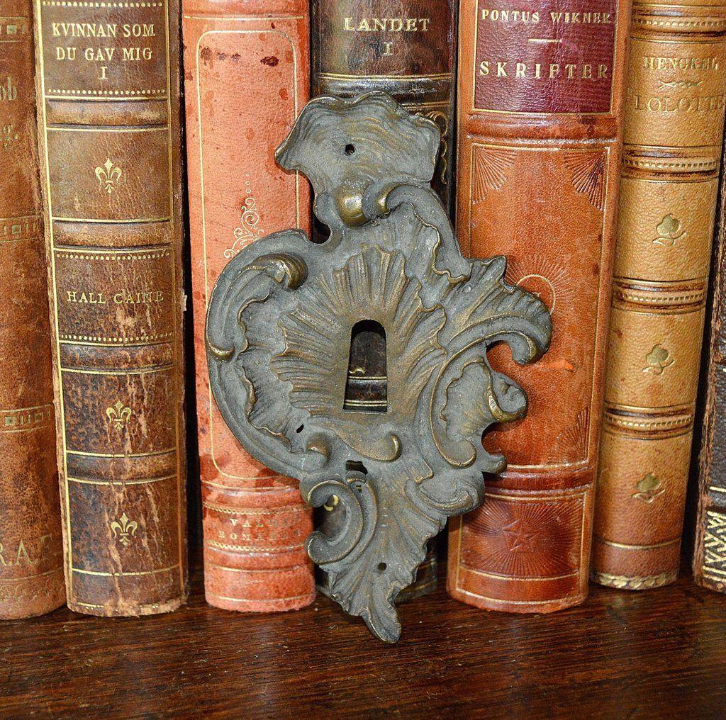 Antique Large French Keyhole Escutcheon Bronze Hardware 2 Available ...
