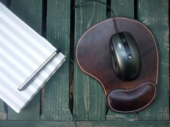 mouse pad leather mouse pad brown mousepad ergonomic wrist от OUSI