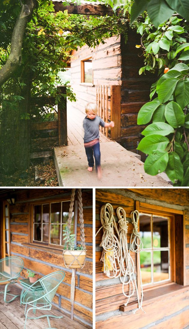 Pared durmientes el galpon casas casas r sticas y for Jardineria al aire libre casa pendiente
