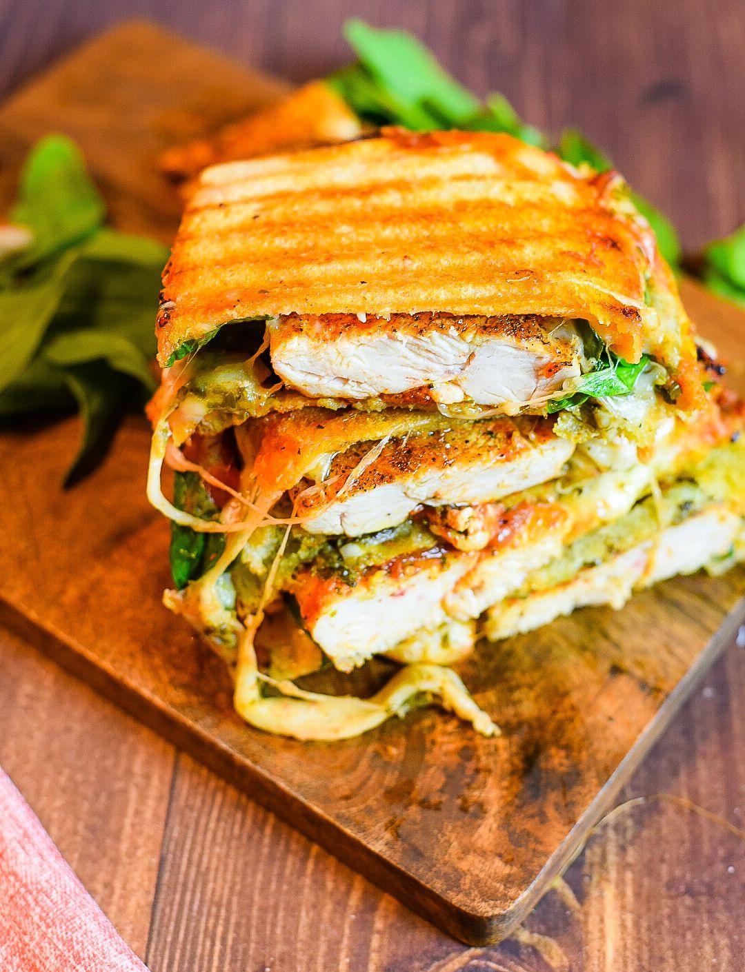 Italian Chicken Panini Sandwich