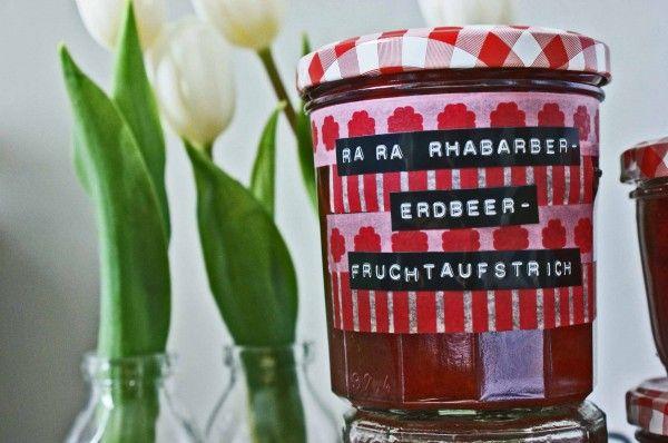 Rhabarber-Erdbeer-Fruchtaufstrich - Handmade Kultur