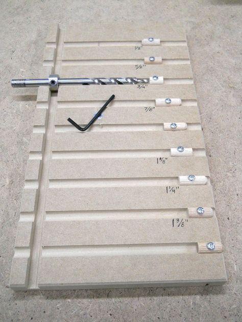 Pocket Hole Drill Bit Depth Setting Board Plateau D Ajustement