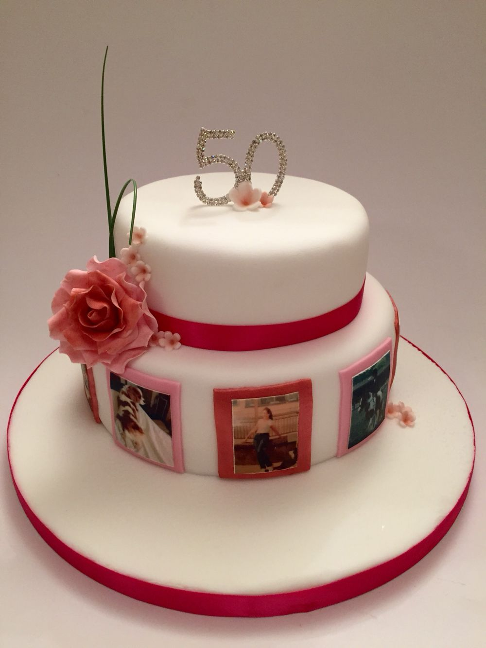 www.lifeissweetcakes.co.uk Female 50th birthday cake