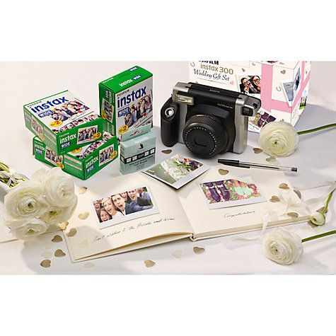 Buy Fujifilm Instax 300 Wedding Pack with Instant Camera, 60 Shots, Photo Mounts, Wedding Guest Book & Pen Online at johnlewis.com