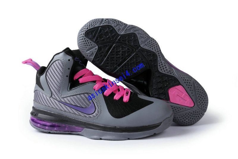 cheap new Womens Nike Lebron James 9 shoes Purple Black Pink