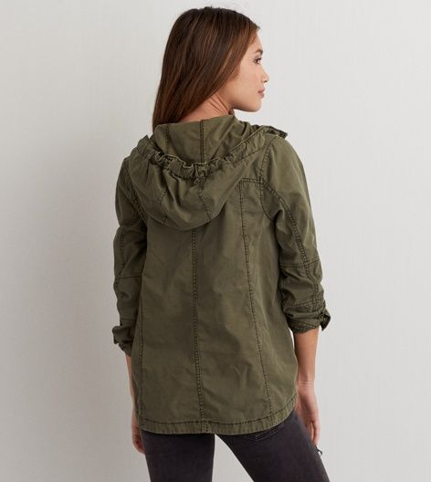 Olive AEO Light Swing Jacket