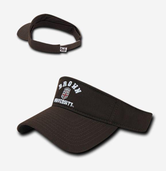 ac58ec12a1a64 Brown University Bears BU NCAA Adjustable College Golf Tennis Sun Visor Hat  Cap  WRepublic  Visor  Sun