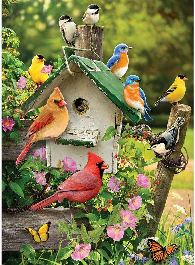 Cobble Hill Summer Birdhouse Puzzles 1000 Pieces