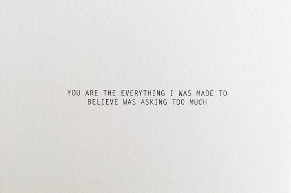 You are the Everything anniversary card for boyfriend love | Etsy