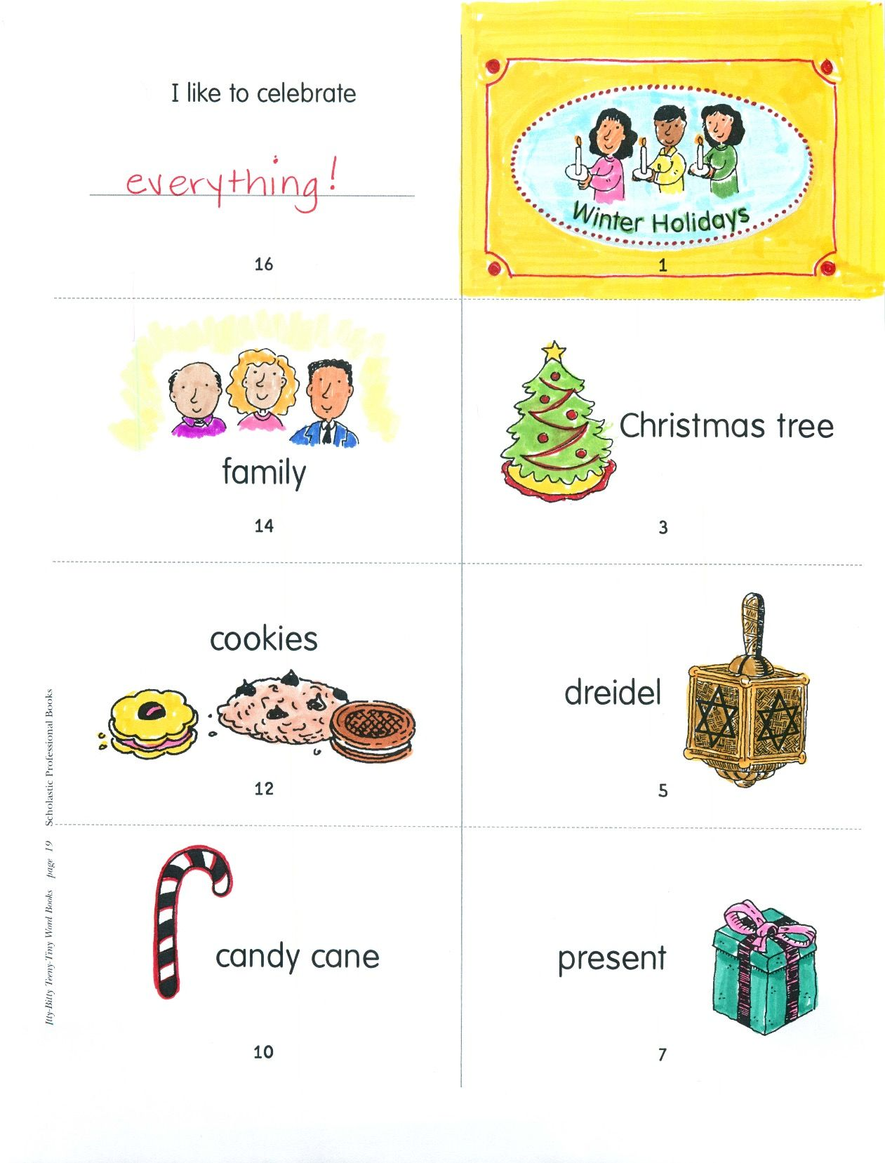 Build Vocabulary And Sight Word Recognition By Creating This Smart And Creative Winter Holidays