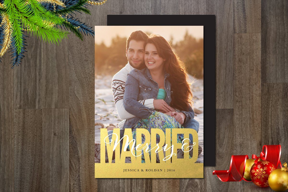 Photo of Merry & Married Photo Card , #SPONSORED, #Photo#Card#download#Married #affiliate