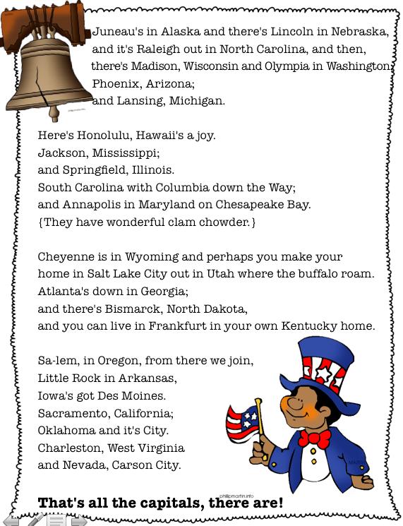 U S States Capitals States And Capitals Us States 5th Grade Social Stu S