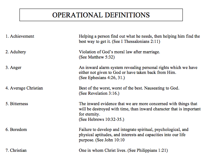 Operational Definitions Of Important Words Article The Duggar