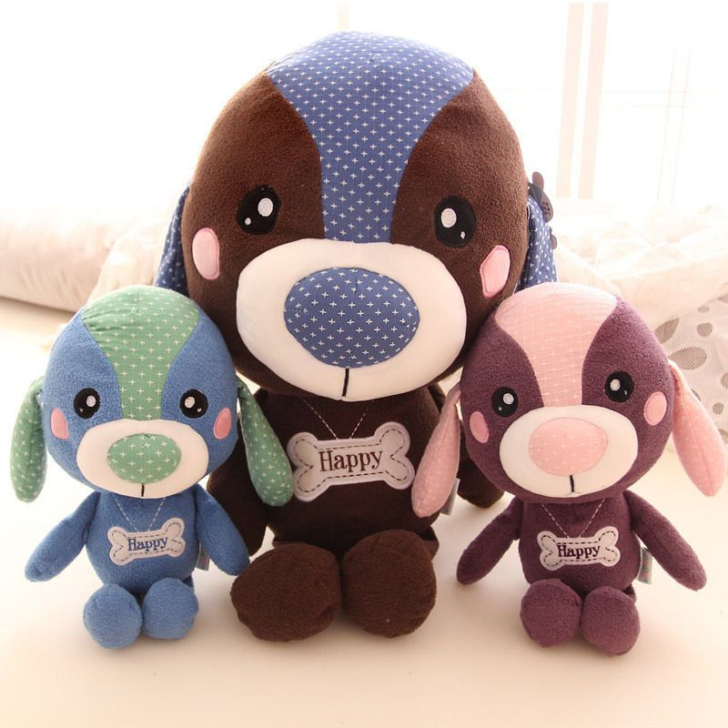 Details About Lovely Stuffed Dog Toy Plush Big Head Dog Doll Kids
