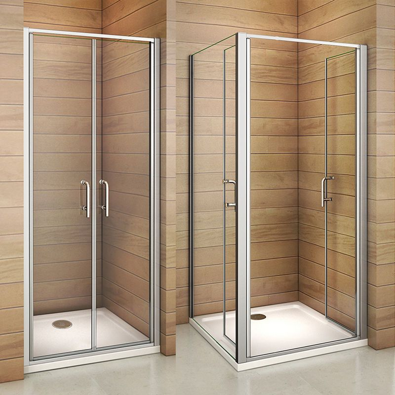 Double 180 Pivot Door Shower Enclosure Tray Glass Screen Cubicle