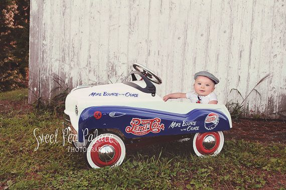 Instant Download DIGITAL BACKDROP for Photographers- Pepsi Pedal Car #backdropsforphotographs