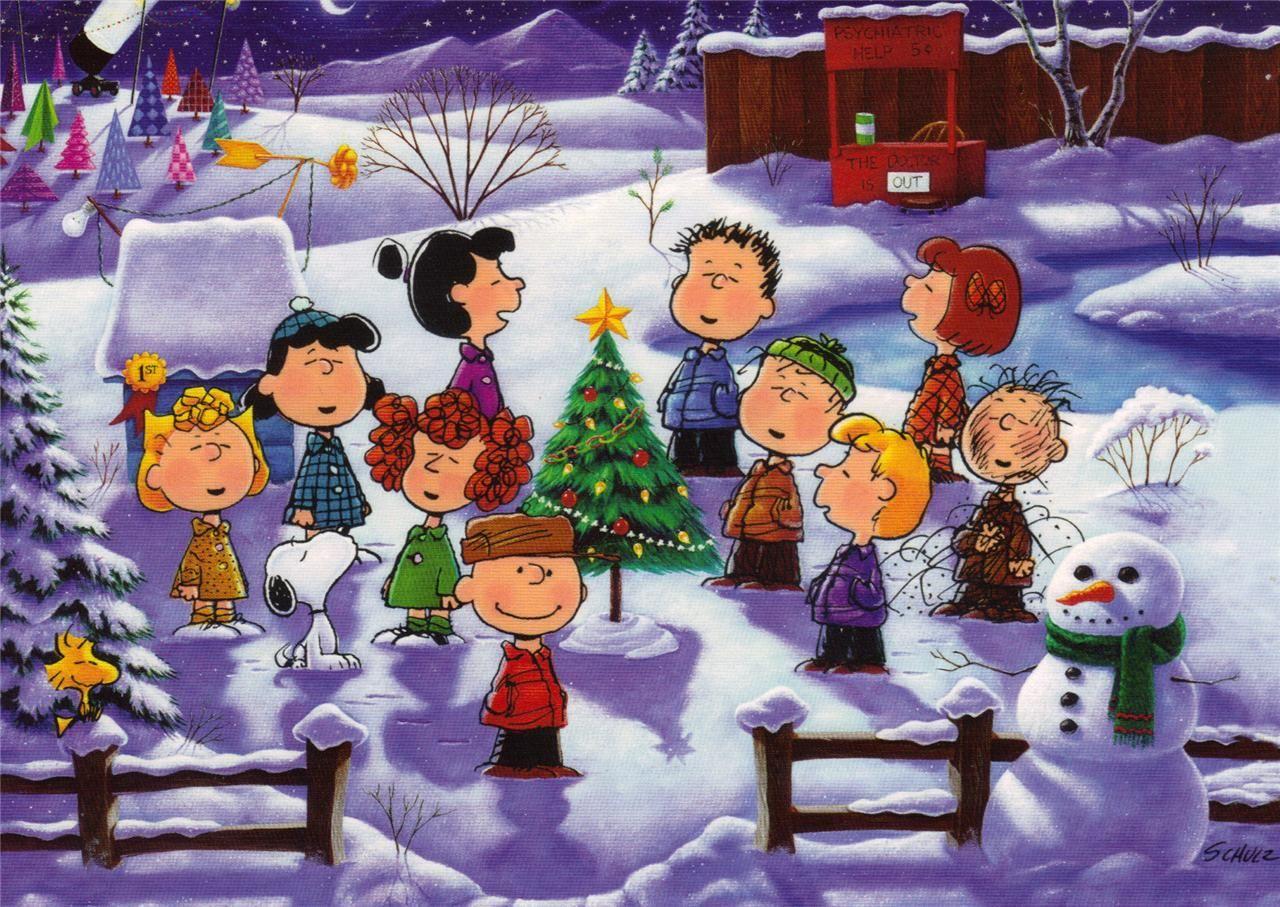 Christmas Singing Images.Peanuts Gang Singing Christmas Carols Snoopy Peanuts
