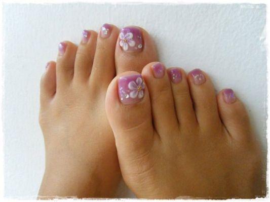 45 Childishly Easy Toe Nail Designs - 45 Childishly Easy Toe Nail Designs Nails Pinterest Nails, Toe