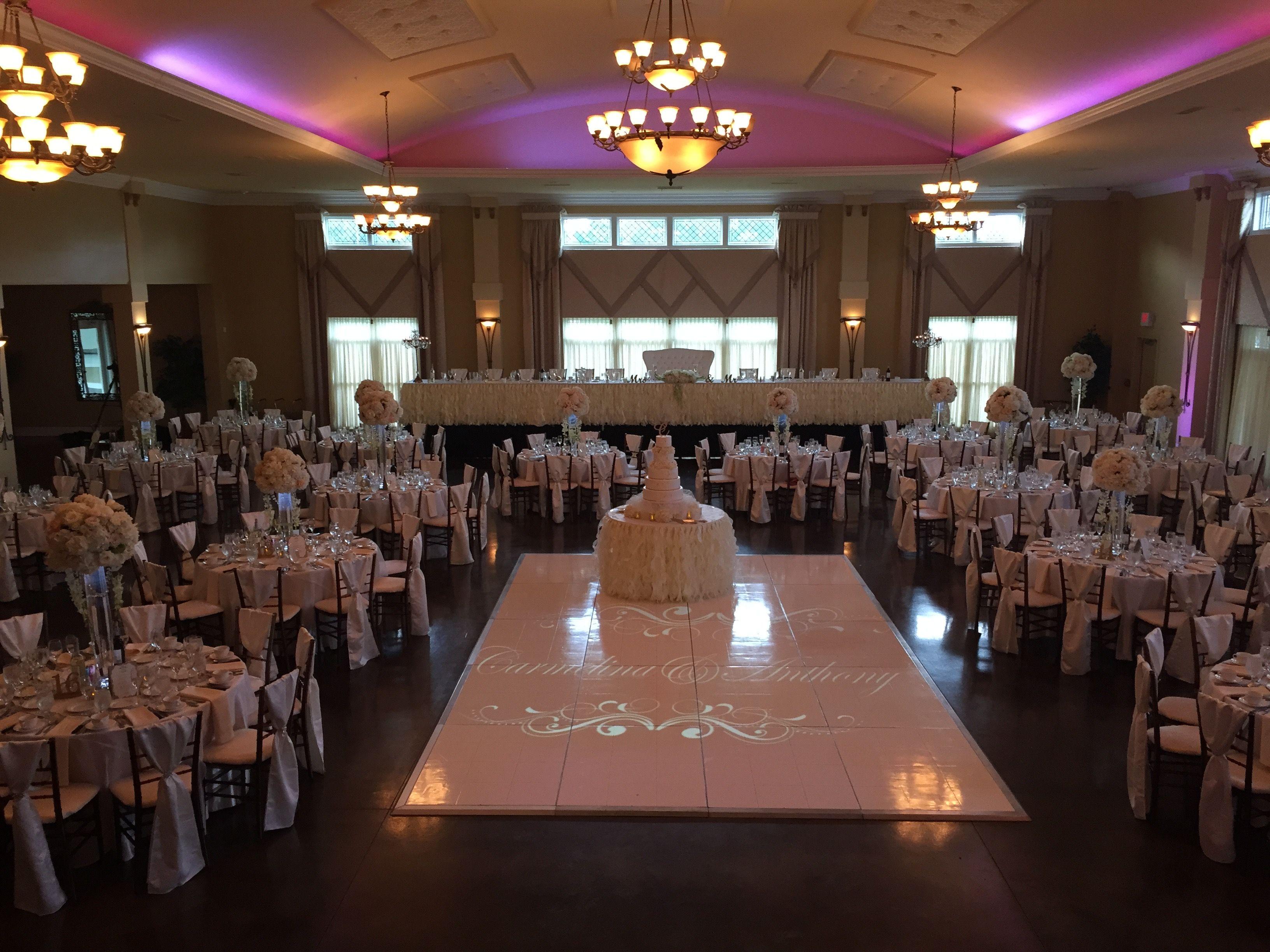 Elegant Wedding In The Amore Grand Ballroom Whitedancefloor Avantimansion Avantimansionballro Outdoor Wedding Venues Elegant Wedding Venues Wedding Venues