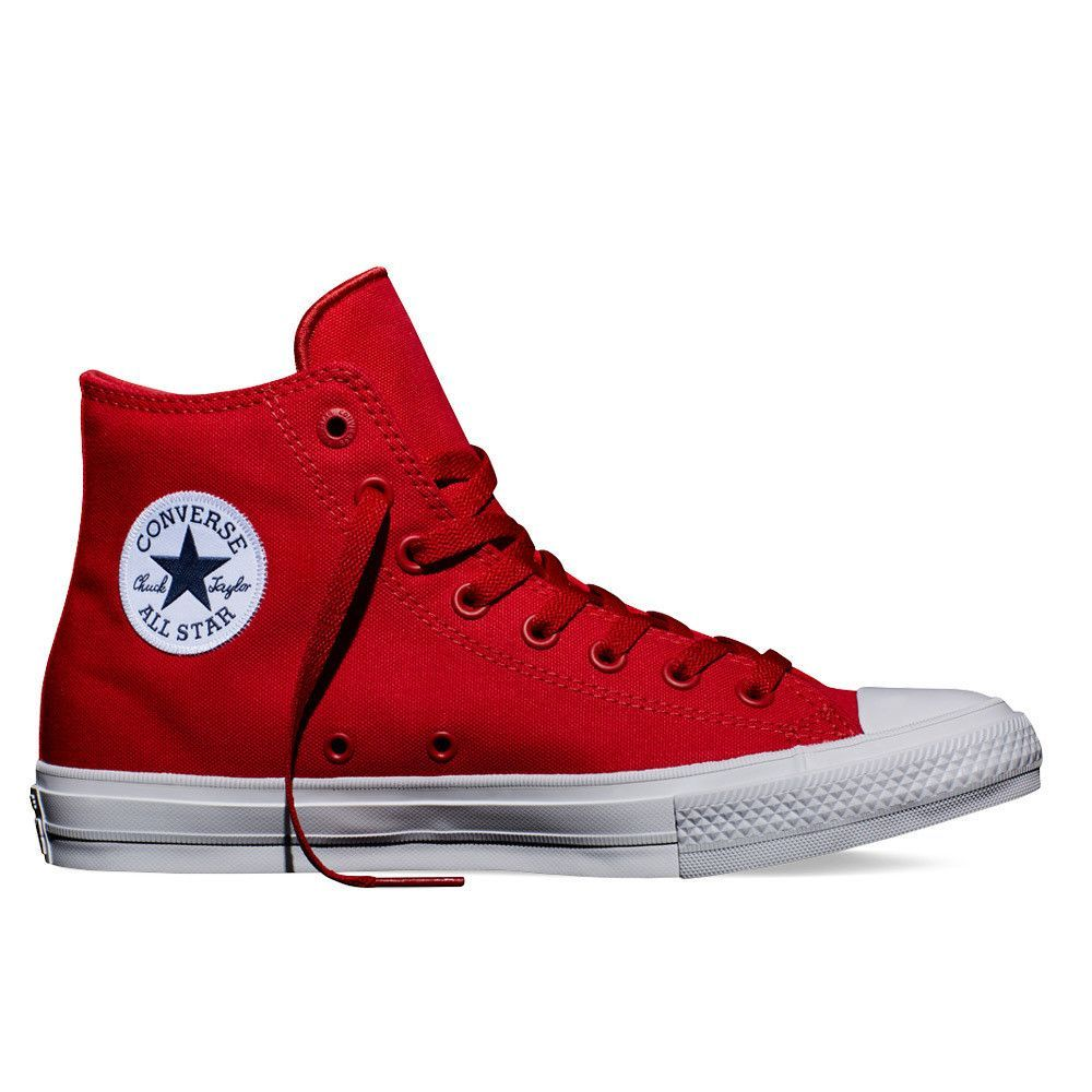 The newly redesigned Converse All Star II - Salsa Red