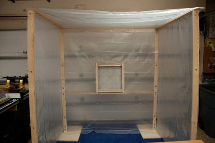 Knock-down Spray Booth | Portable paint booth, Diy paint ...