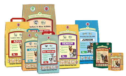 Have a look at our range of James Wellbeloved Dog food