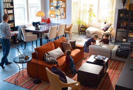 Salas IKEA 2012 | Salón ikea, Sala de estar moderna, Salones