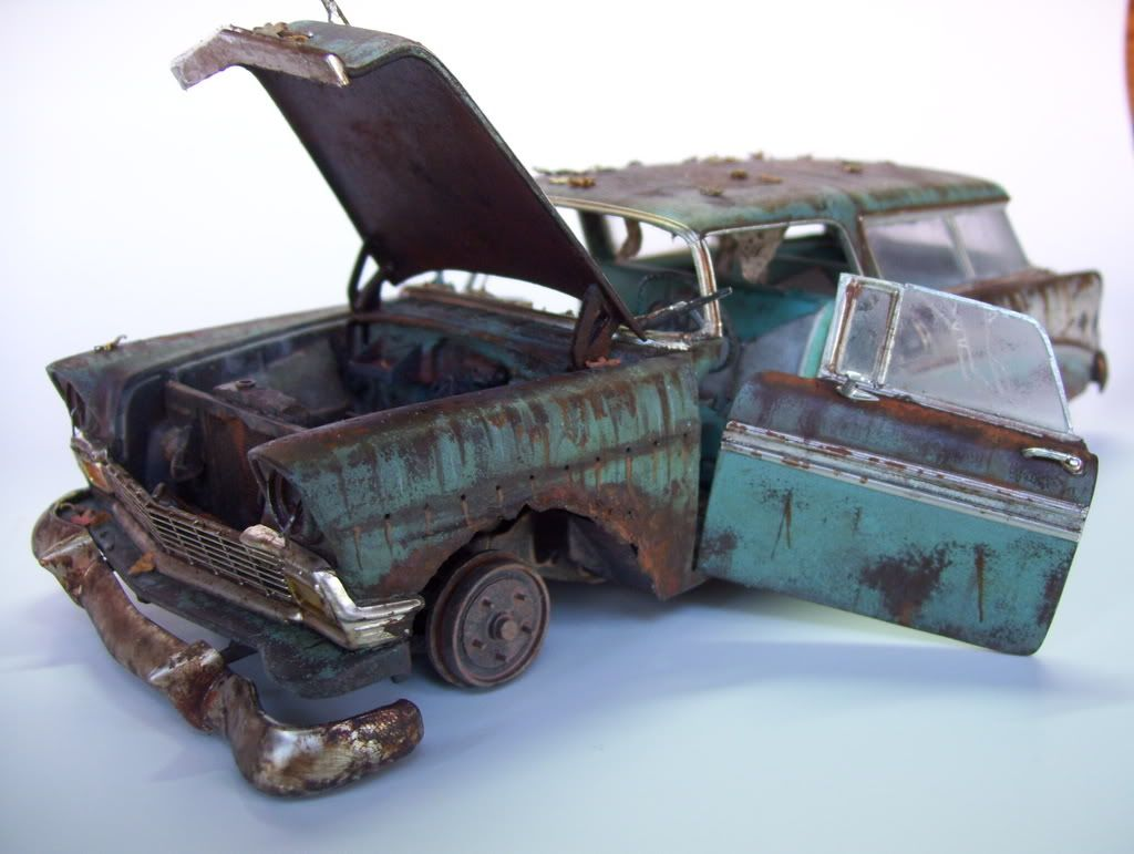 weathered model cars weathered car