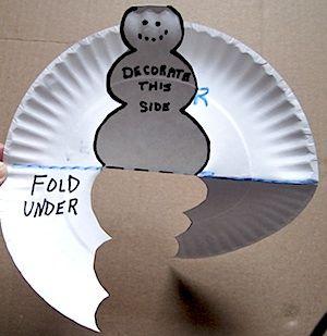 A paper plate pop up snowman is a fun winter craft for kids to make. & pop-up-snowman directions at craftyjournal.com | Winter | Pinterest ...