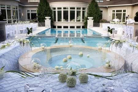 Wedding around the pool in your backyard   Orchid Events ...